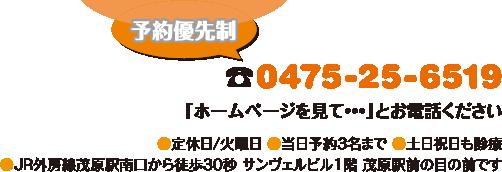 電話:0475-25-6519
